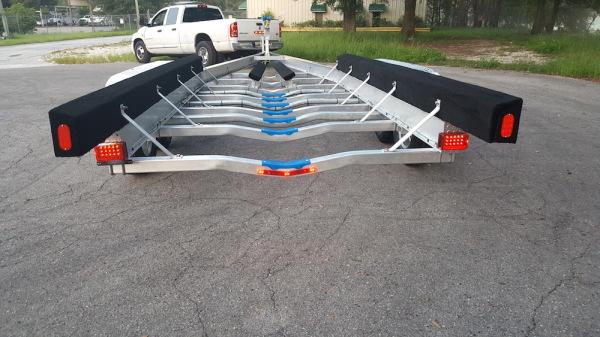 National Trailer - Custom Aluminum Boat Trailer Tri Axle- High Performance - Aluminum Boat Trailers
