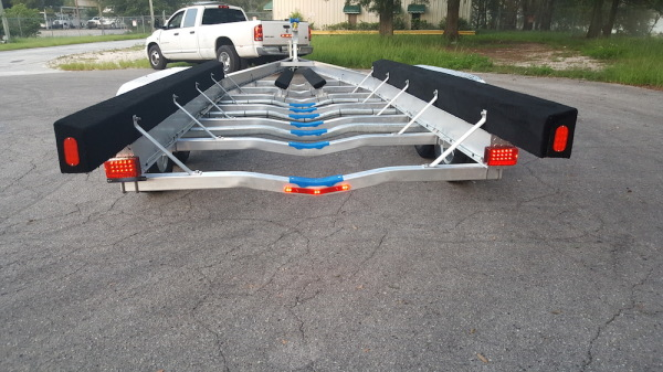 National Trailer - Custom Aluminum Boat Trailer Tri Axle- High Performance - Aluminum Boat Trailers