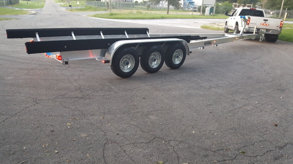 National Trailer - Custom Aluminum Boat Trailer Tri Axle - High Performance - Aluminum Boat Trailers