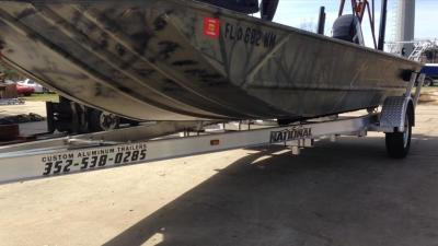 National Trailer -  Aluminum Boat Trailer -  Custom Trailer Flats Boat - Flats Fishing - Inshore Fishing - Duck Hunting Boat - High Performance - Aluminum Boat Trailers
