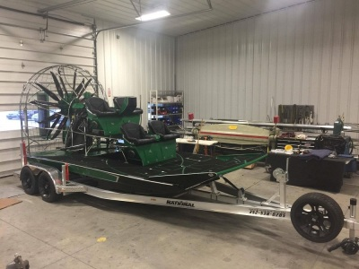 National Trailer -  Aluminum Air Boat Trailer -  Custom Trailer  Air Boat - High Performance - Aluminum Boat Trailers