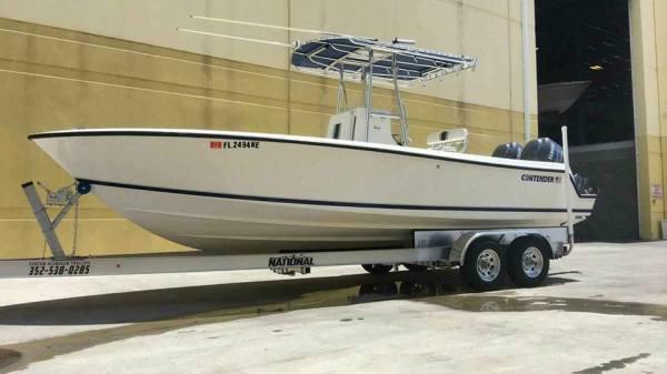National Trailer -  Contender Boat - Open Fisherman - Center Console - Aluminum Boat Trailer -  Custom Trailer - Heavy Duty - High Performance - Aluminum Boat Trailers