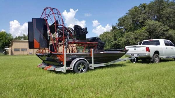 National Trailer -  Aluminum Air Boat Trailer -  Custom Trailer  Air Boat - High Performance - Aluminum Boat Trailers