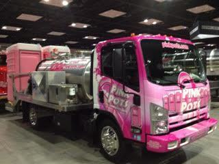 Lewis Pink Pots Portable Toilet Pink Pot Truck