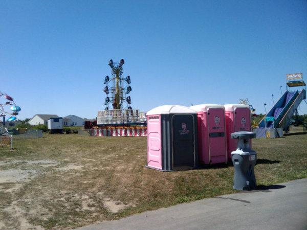 Lewis Pink Pots Portable Toilet
