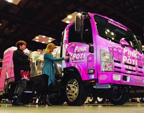 Lewis Pink Pots Portable Toilet Pink Pots Truck