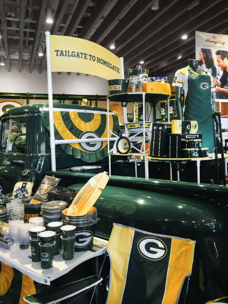 Lambeau Stadium Homegating Merchandise Display