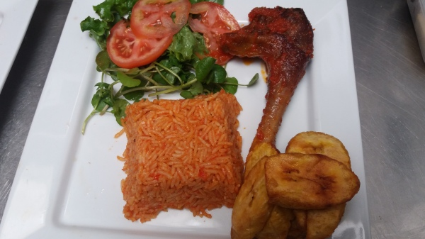 Jollof Rice and Fried Chicken