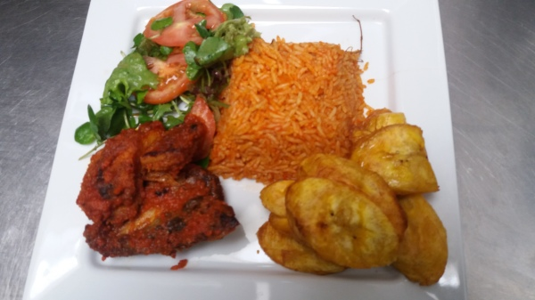 "JOLLOF RICE 'n"" PLANTAIN"
