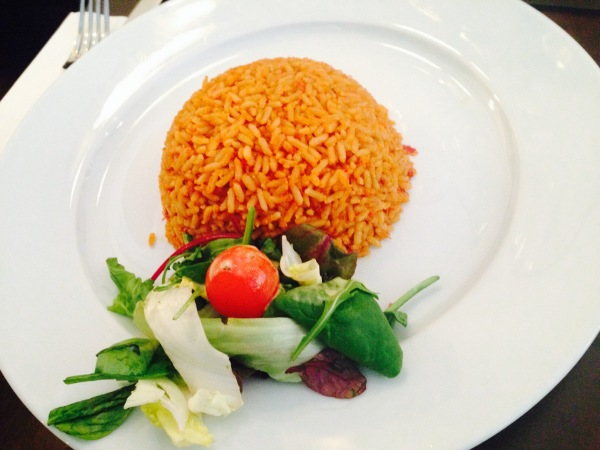 Jollof Rice and Salad