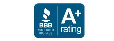 Better Business Bureau accreted A+ Rating