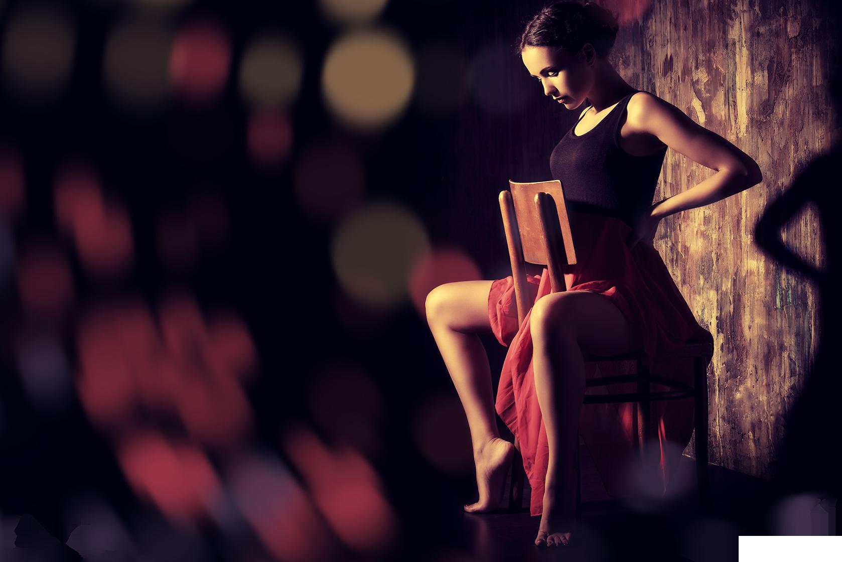 Tango Dancer Sitting