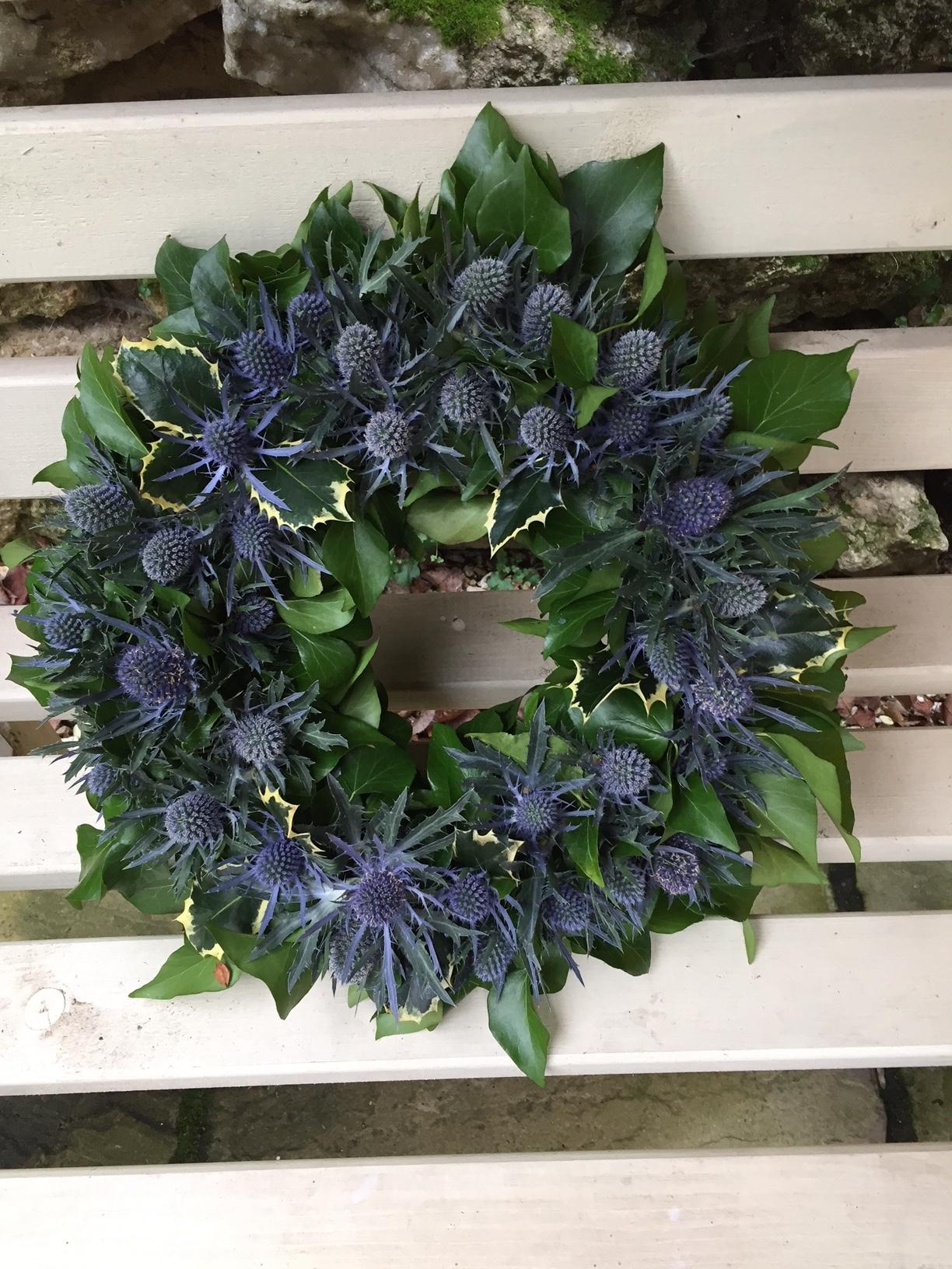THISTLE WREATH Beautiful blue wreath