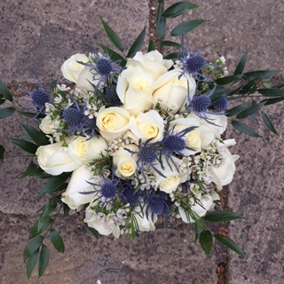 ROSE & THISTLE HAND TIED
