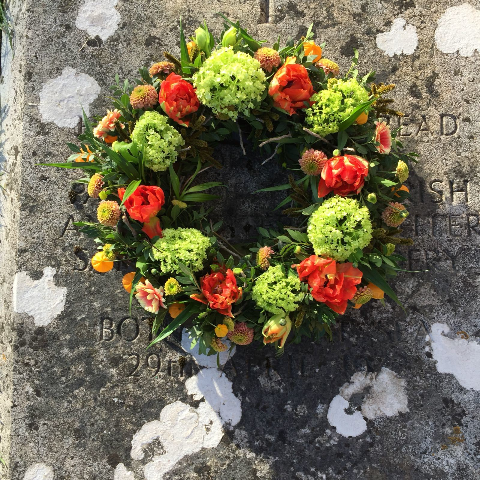 BIODEGRADABLE RING WREATH Funeral or door wreath