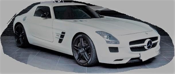 MERCEDES SLS AMG WHITE