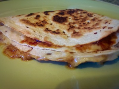 cheese and marmite quesadilla
