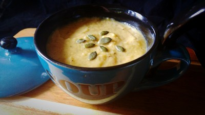 Tribute to Emmeline Pankhurst with Parsnip, Butter Bean & Apple Soup