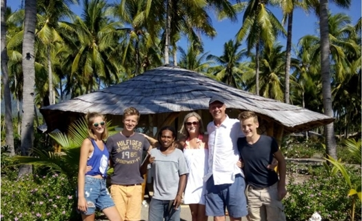Mr. Jacob Kolster's family from Holland with Christian Peter, Flores Driver