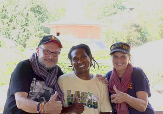 Mr. Bergmans Jean-Pierre and Mrs. Peetroons Micheline from Belgium with Christian Peter, Flores Driver