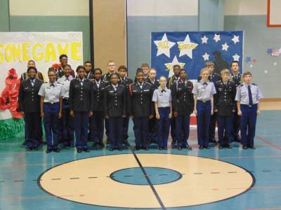 Supporting Local schools for Veterans Day