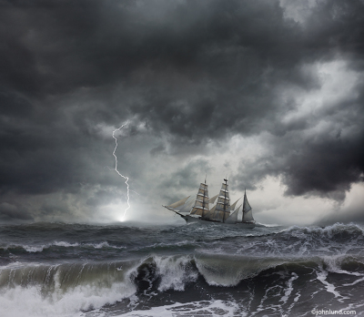 Image by: https://www.johnlund.com/page/7697/tall-ship-in-storm-at-sea.asp