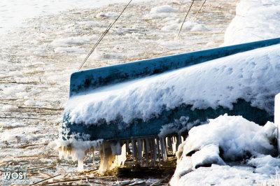 Frozen Austrian lakescape