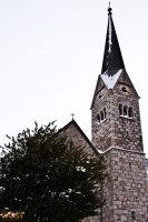 Church of Hallstatt in Upper Austria in Winter