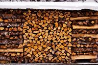 wood shock of Hallstatt in Upper Austria in Winter
