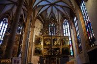 Inside the church of Hallstatt in Upper Austria