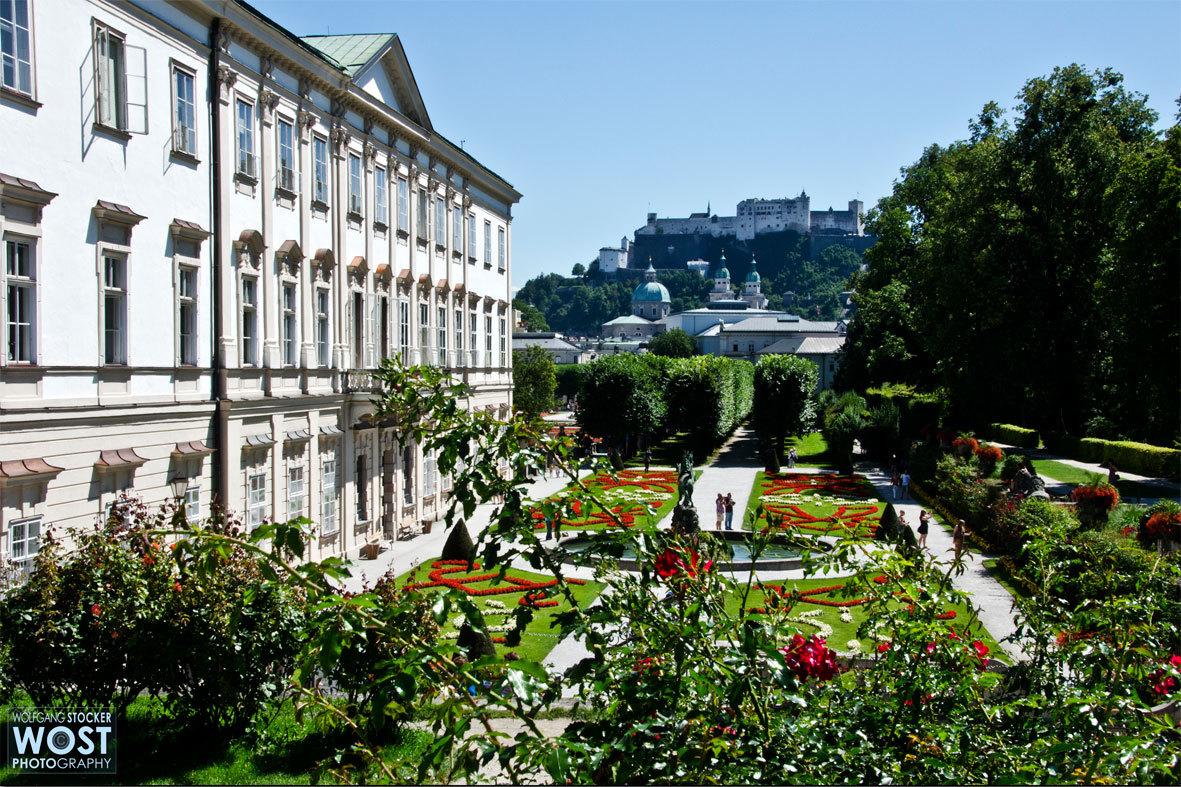 Mirabell with castle Hohensalzburg in Salzburg, Austria