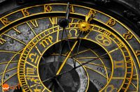 Composition of the close-up of the astronomical clock in Prague, Czech Republic