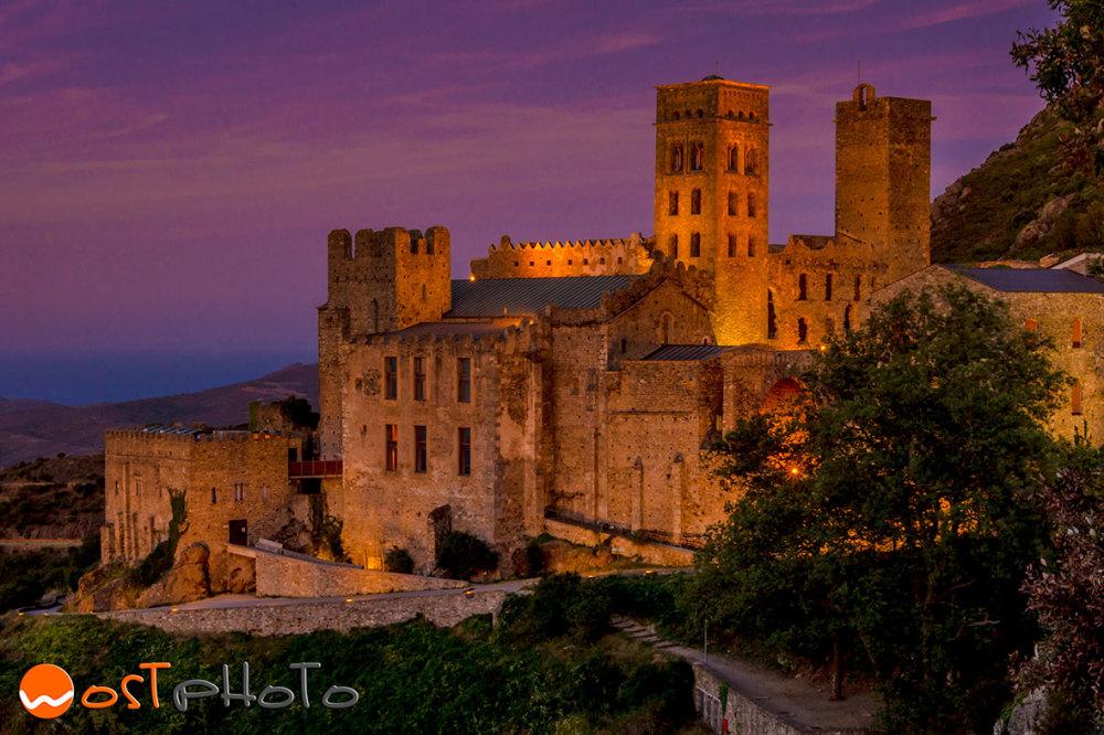 The Monastir Sant Pere de Rodes in Catalonia, Spain