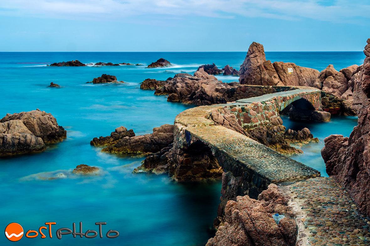 Stone bridge in Canyet de Mar, Costa Brava, Spain