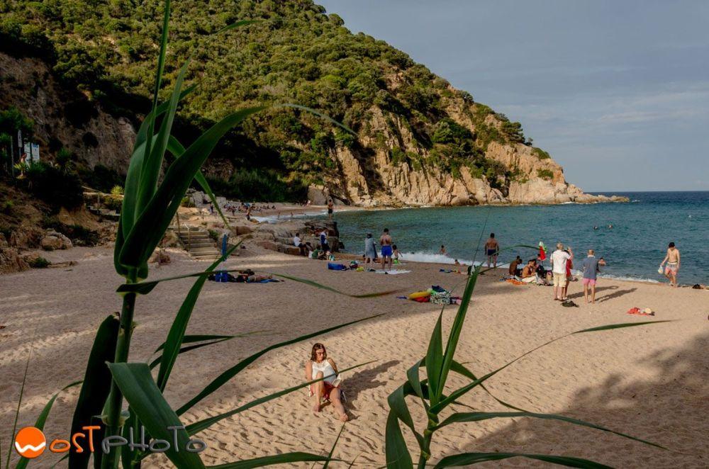 The little hidden beach in Canyet de Mar, Catalonia, Spain