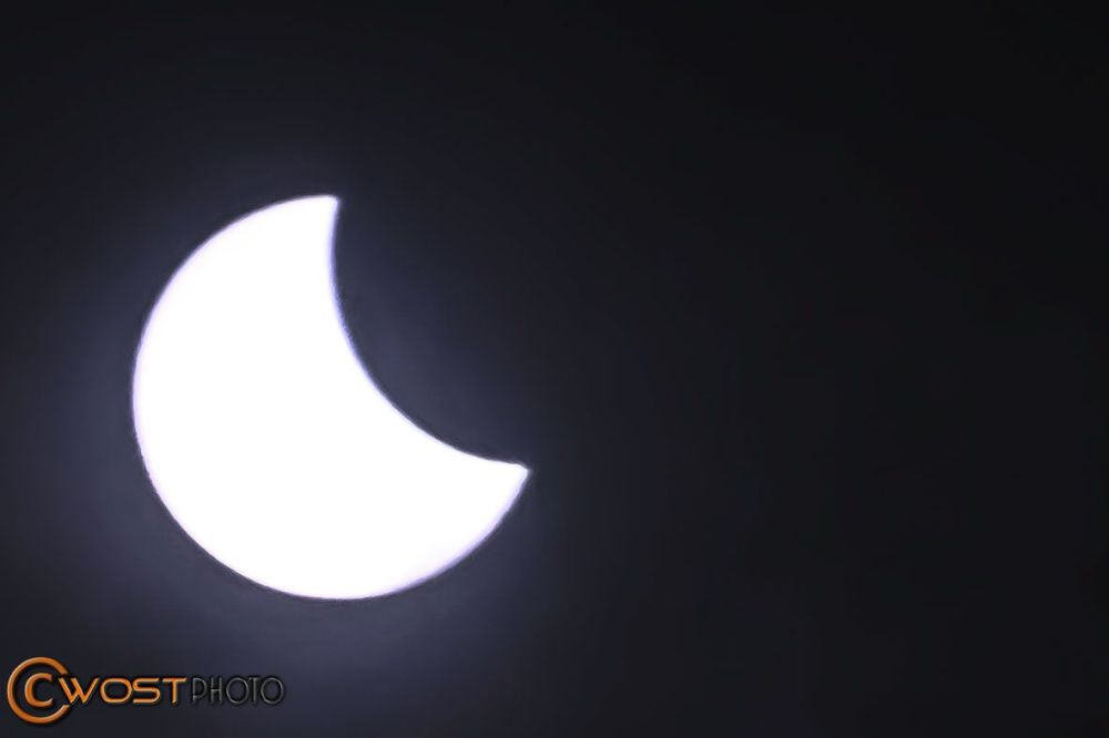 Solar eclipse seen from Udine/Italy in 2015