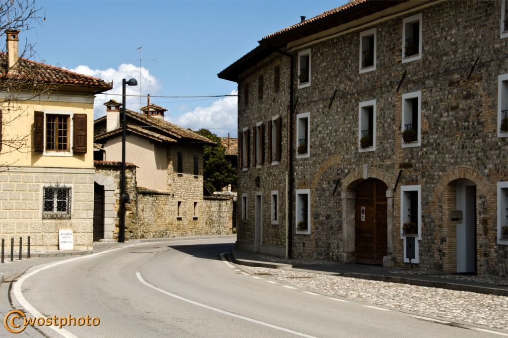 The charming little village Clauiano in Friuli/Italy