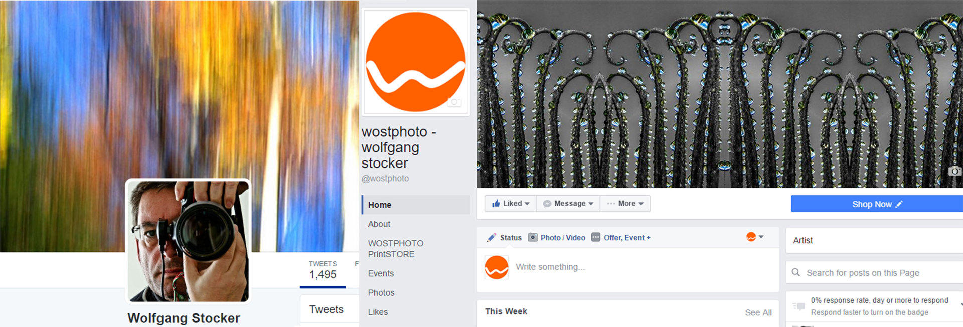 Facebook and twitter header of wostphoto
