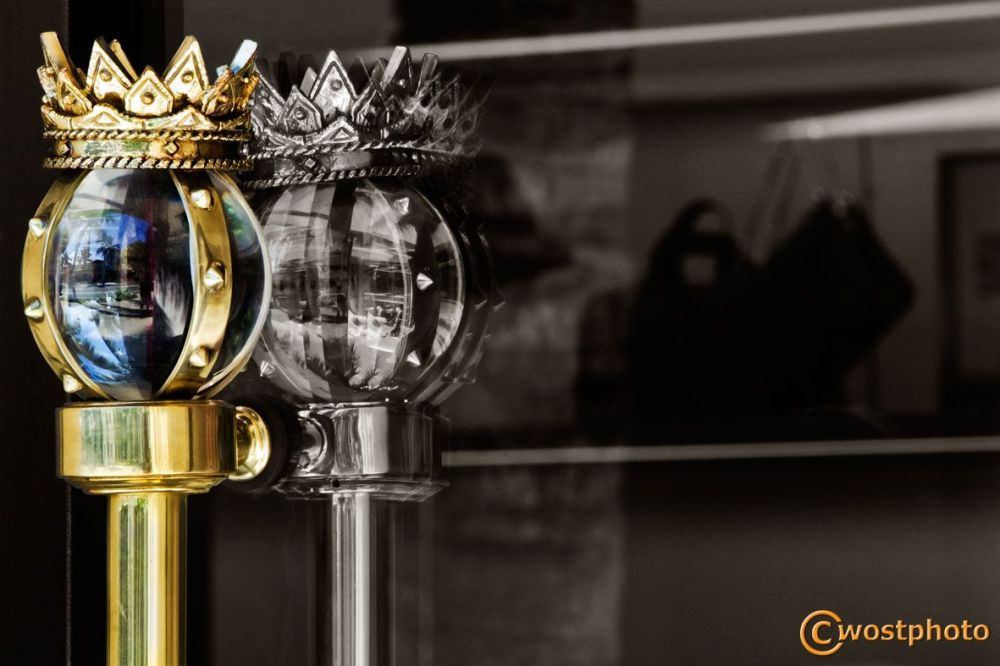 Crown door handle at a store in Worth Avenue, Palm Beach, Florida/USA