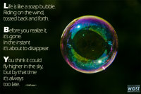 Bubble with quote