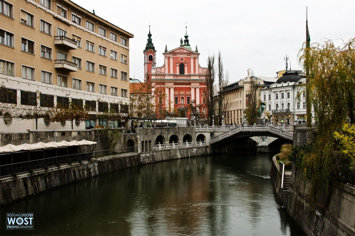 City of Ljubljana in Slovenia