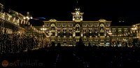 Piazza Unita in Trieste/Italy in Christmas decoration
