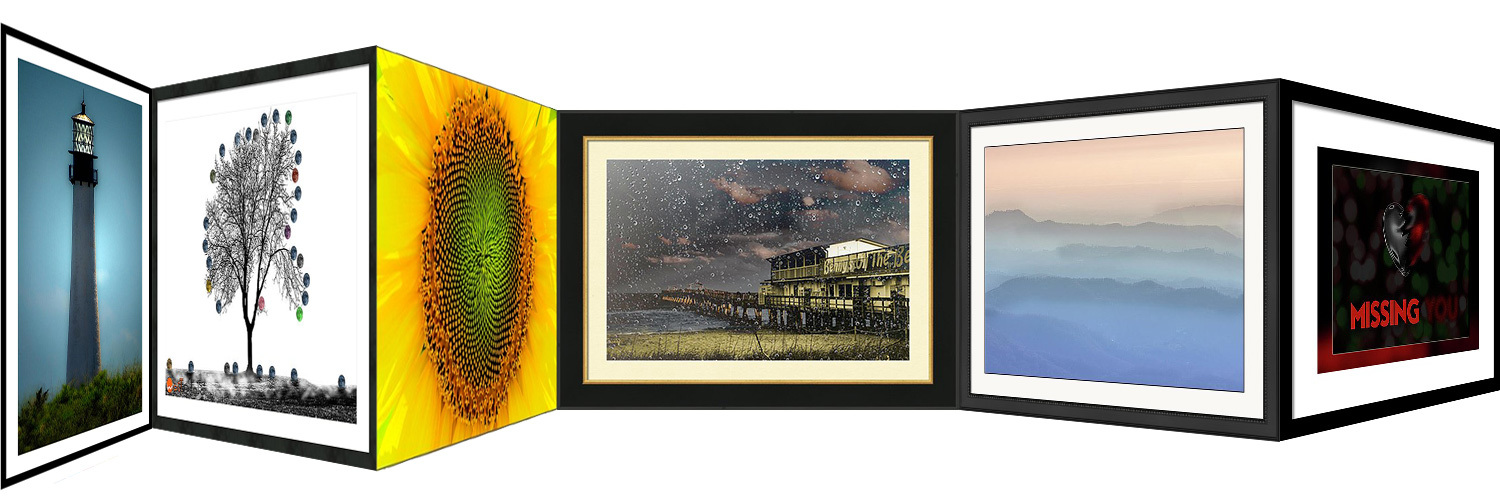 Photography in frames by Wolfgang Stocker