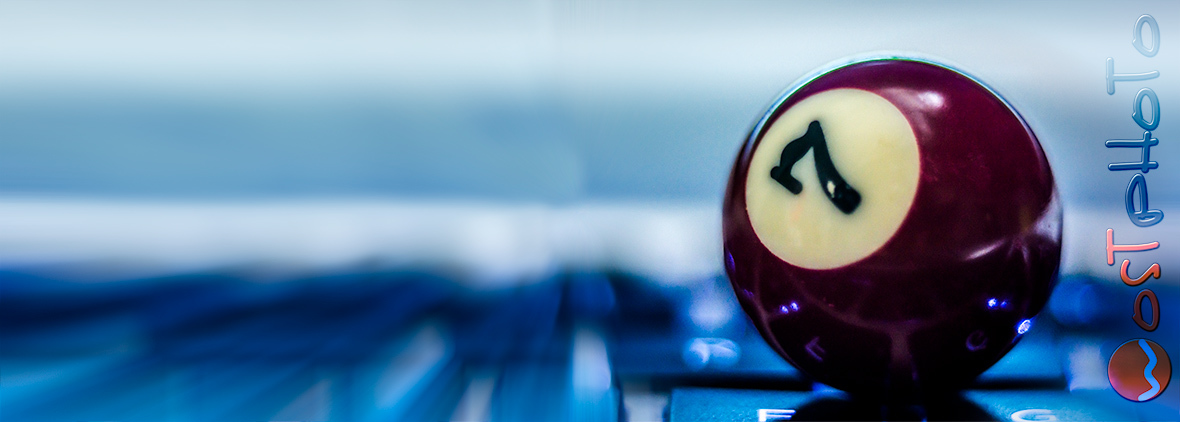 composite Billiard ball number 7 on keyboard by wolfgang stocker