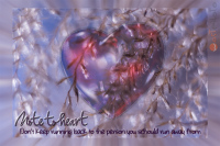Card composite heart with reed and quote
