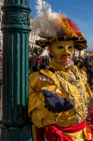 wostphoto, Mask posing in original Venetian clothes at the Carnival in Venice 2017