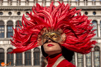 Mask posing at the Carnival in Venice 2017