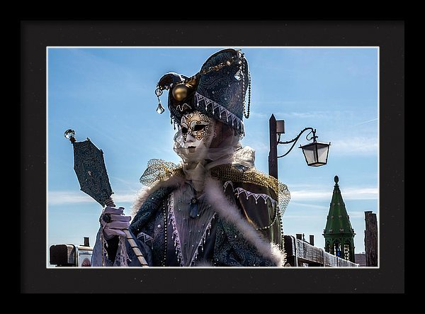 Beautiful mask posing at the Carnival in Venice in 2017
