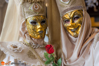 Masks posing at the Carnival in Venice 2017