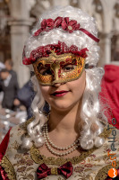 wostphoto, Mask in original Venetian clothes posing at the Carnival in Venice 2017